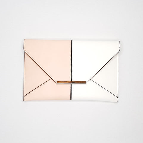 Cammie Pink & White Envelope bag - Styles of Soki
