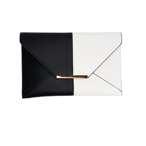 Cammie Black & White Envelope bag - Styles of Soki