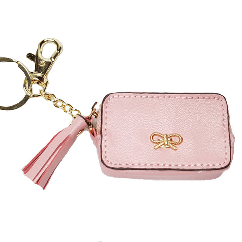 Fae Pink Bag/Key Charm Coin Purse - Styles of Soki