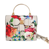Betty Printed Bow Handbag Grey - Styles of Soki