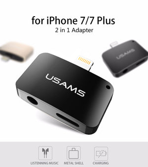 2 in 1 AUX Plug Adapter for iOS Devices