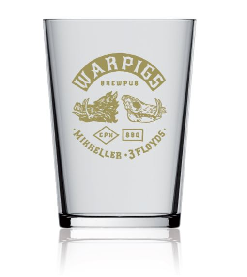 Glassware with golden print