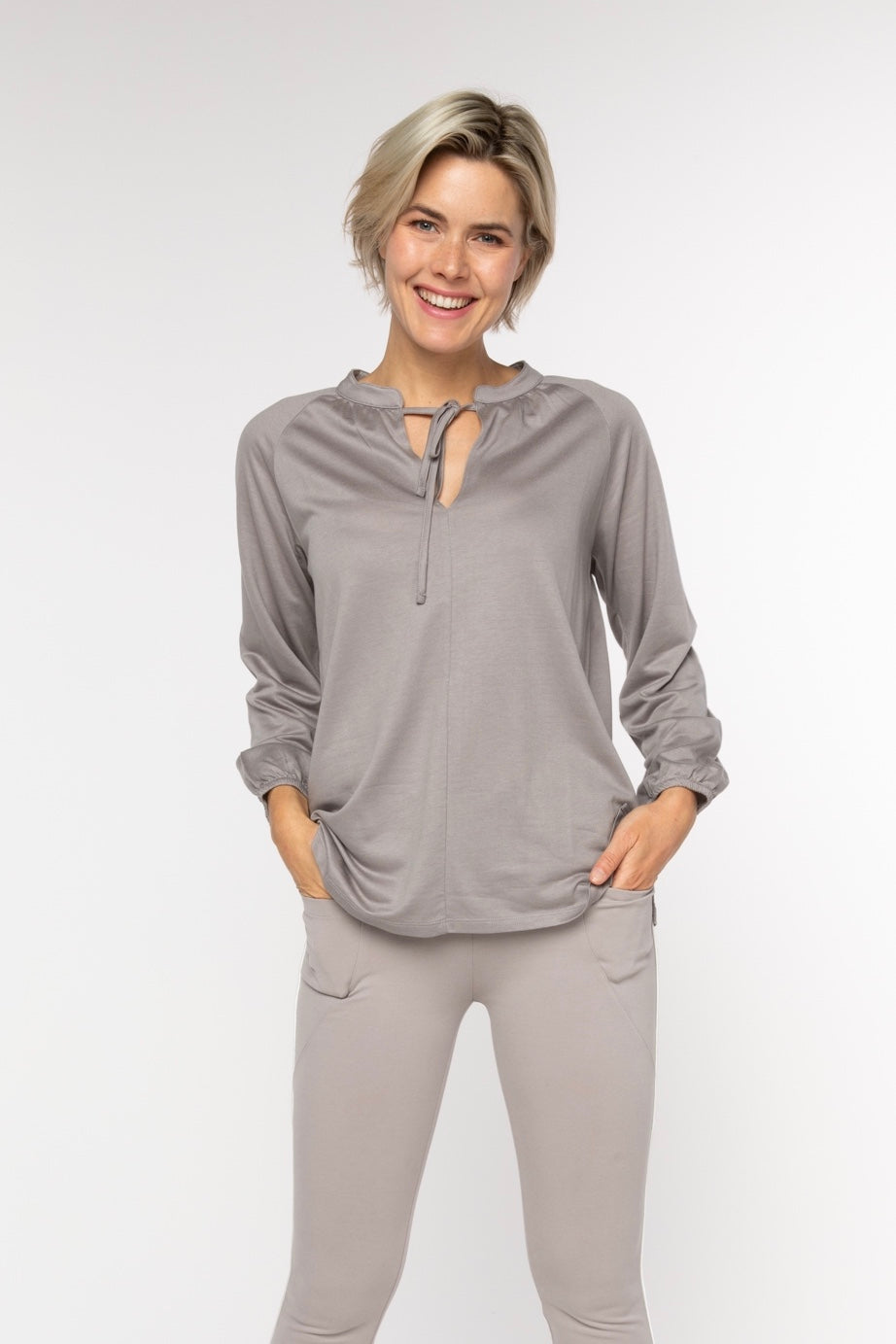 BRZ BUS 38 Blouse - Taupe