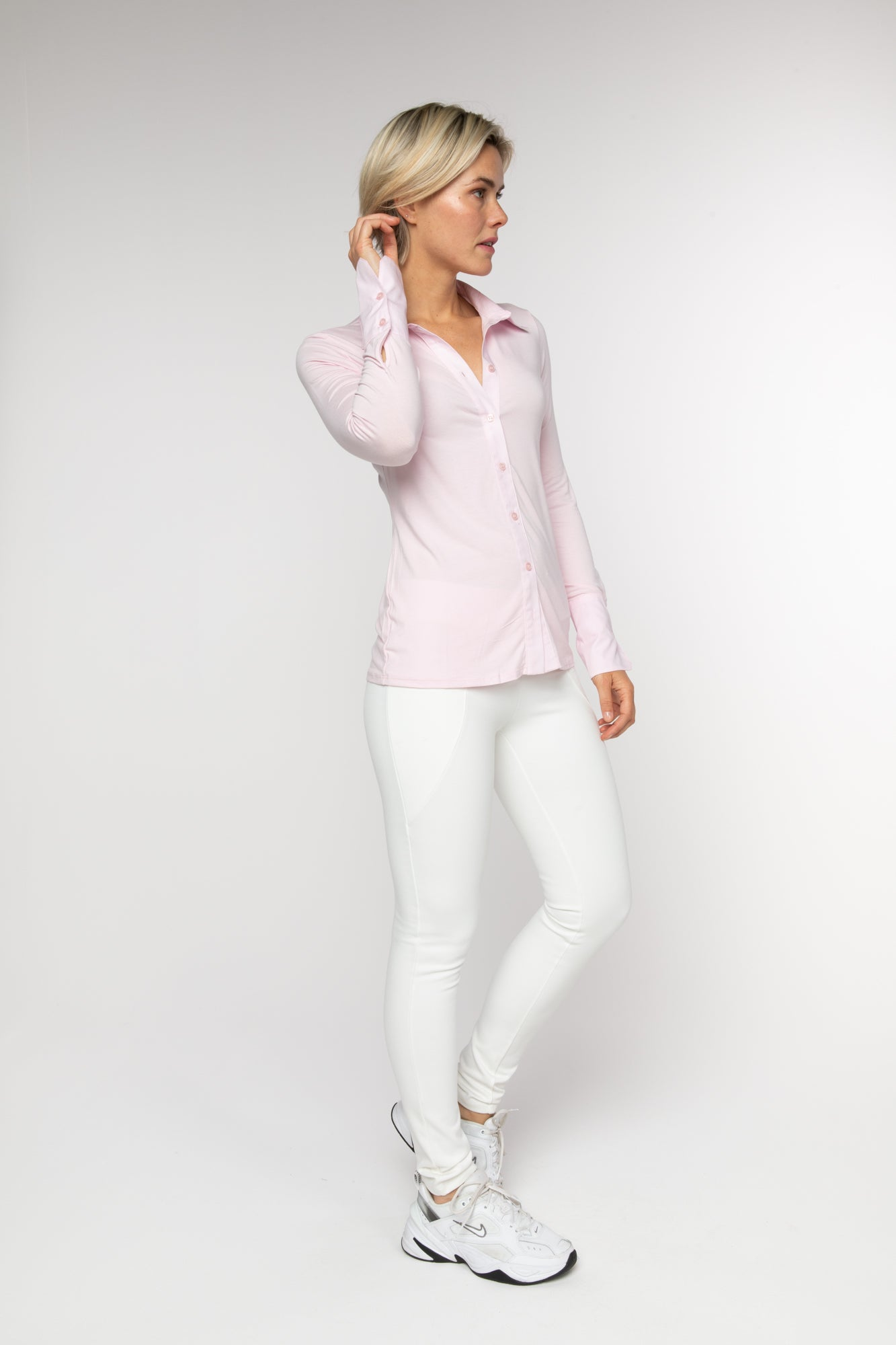 BRZ BUS 29 Blouse - Soft Pink - Braez
