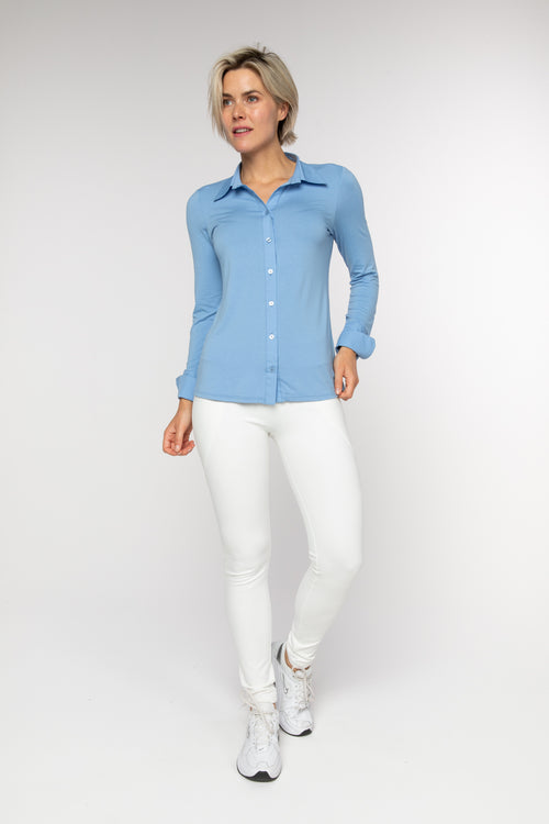 BRZ BUS 29 Blouse - Bright Blue - Braez