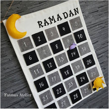 Ramadan Calendar - White with black and grey
