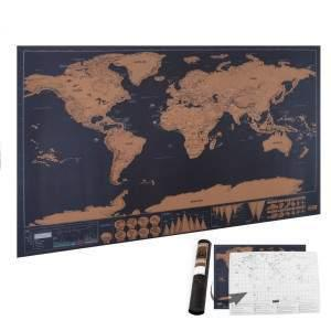 Scratchable World Travel Map alexandrekan