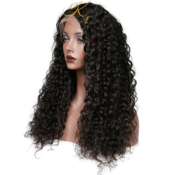 Curly Lace Front Brésilien Remy Hair avec Baby Hair - Kessy Extensions