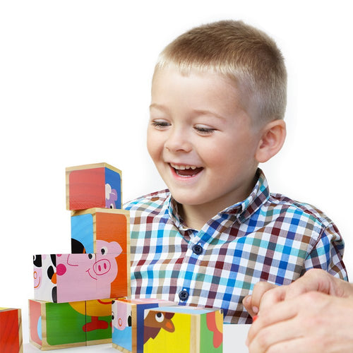 Toddler Animal Puzzle Board | Wooden Toys | Montessori Toys