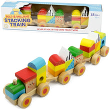 Toddler Wooden Wonders Stacking Train Playset | Wooden Toys | Montessori Toys