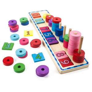 Wooden Wonders Number Stacker | Wooden Toys | Montessori Toys