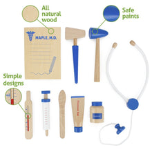 10pc Wooden Wonders Medical Kit For Toddlers | Wooden Toys | Montessori Toys