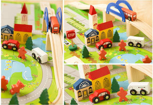 Wooden City Set with vehicles | Wooden Toys | Montessori Toys