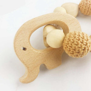 Wooden Elephant Teething Bracelet | Wooden Toys | Montessori Toys