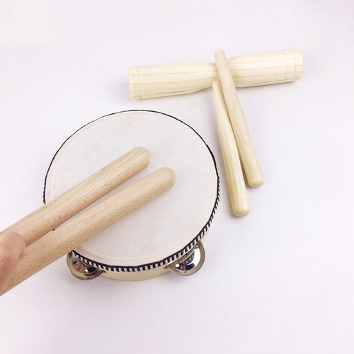 Wooden Percussion Set (5 pieces) | Wooden Toys | Montessori Toys