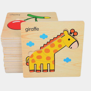 Wooden Educational Puzzle (6 variants) | Wooden Toys | Montessori Toys