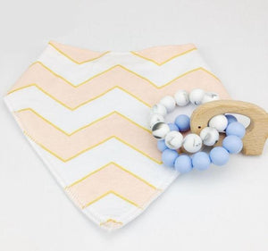 Elephant Wooden Teething Ring & Bib | Wooden Toys | Montessori Toys
