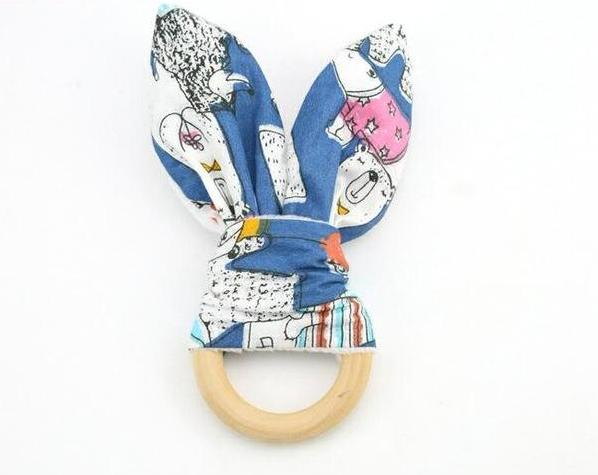Wooden Bunny Ear Teething Toy | Wooden Toys | Montessori Toys