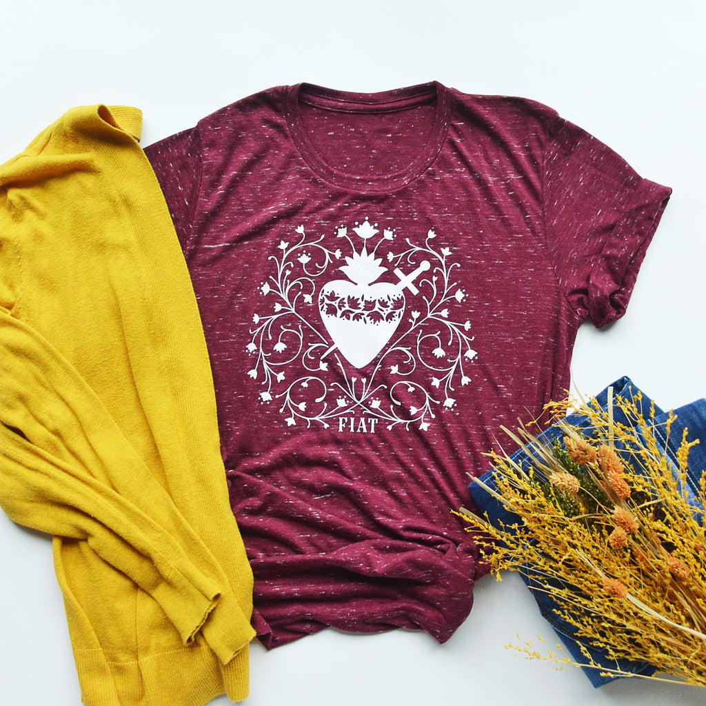 Immaculate Heart Crewneck T-shirt