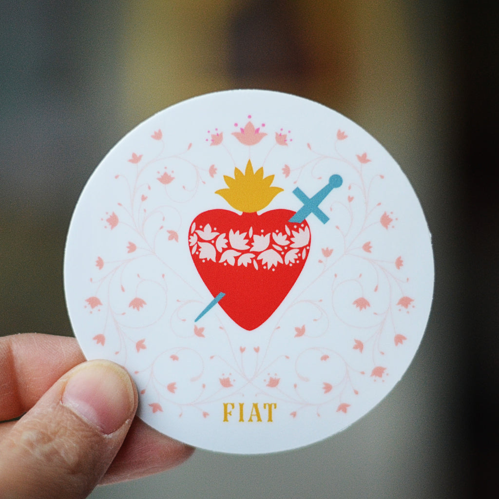 Immaculate Heart Vinyl Sticker