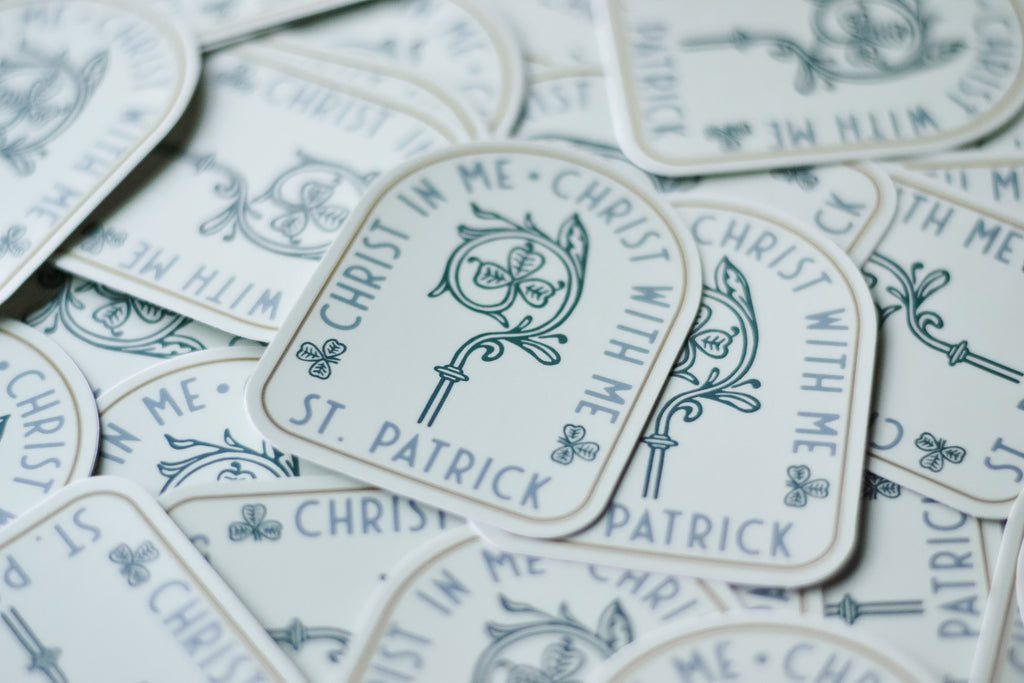 St. Patrick Staff Sticker