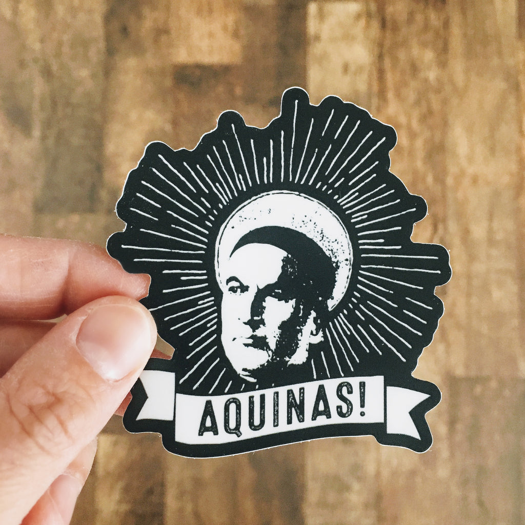 thomas aquinas sticker