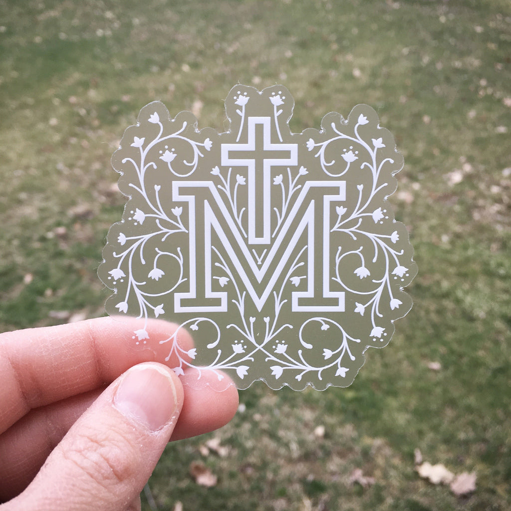 marian cross sticker
