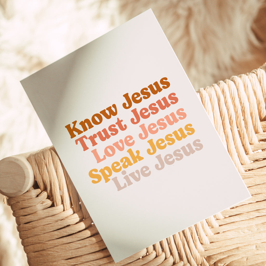 Know Jesus Live Jesus Printable