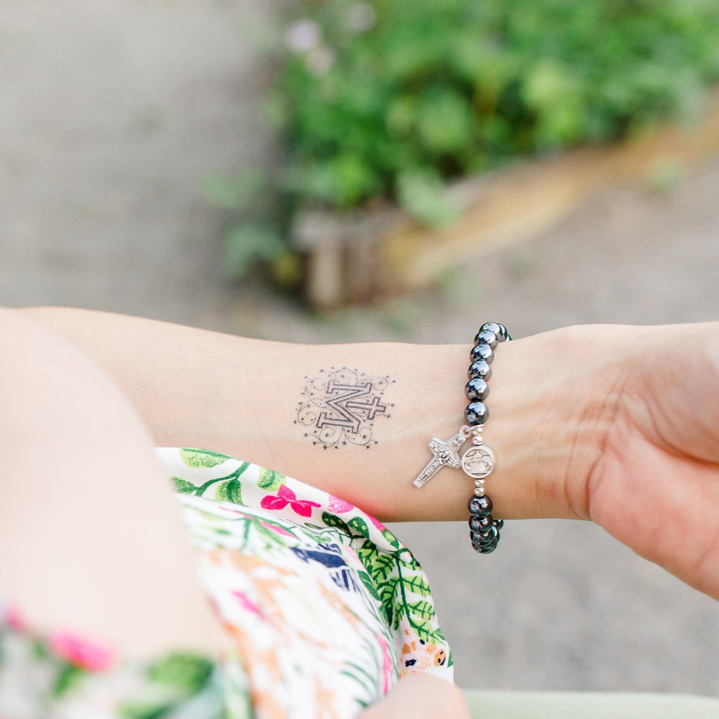 Marian Cross Temporary Tattoo