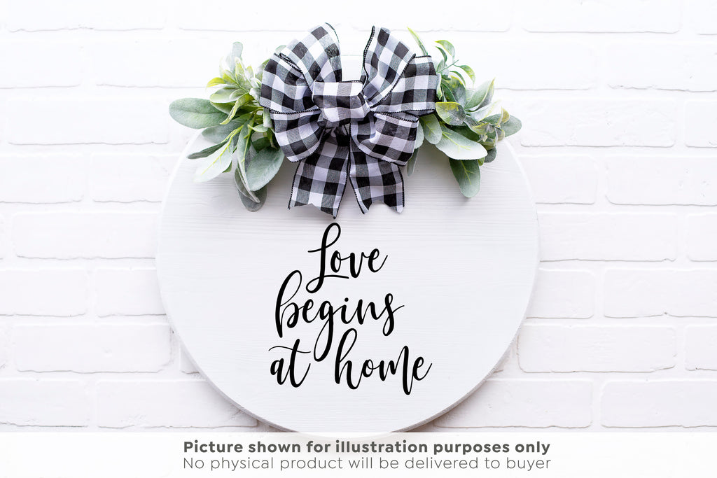 Love Begins at Home SVG