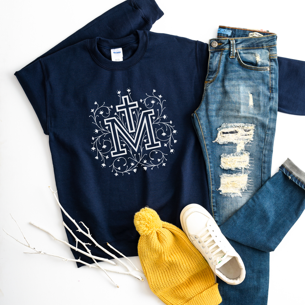Marian Cross Crewneck Sweatshirt