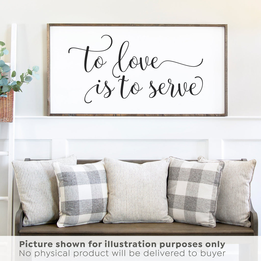 To Love is To Serve SVG