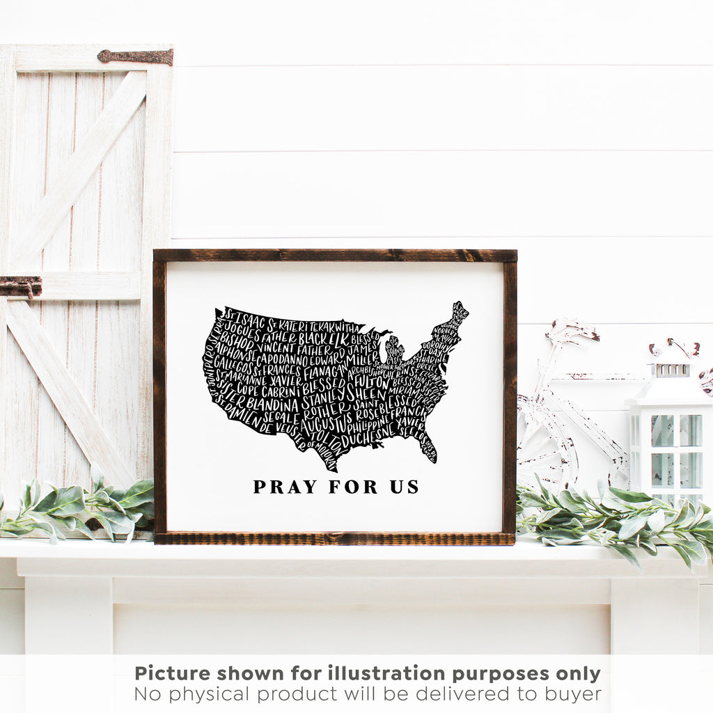 US Map Holy Men and Women Printable