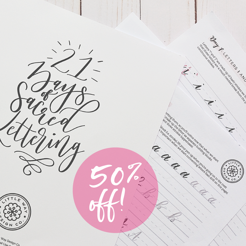 Catholic Lettering Printable Workbook