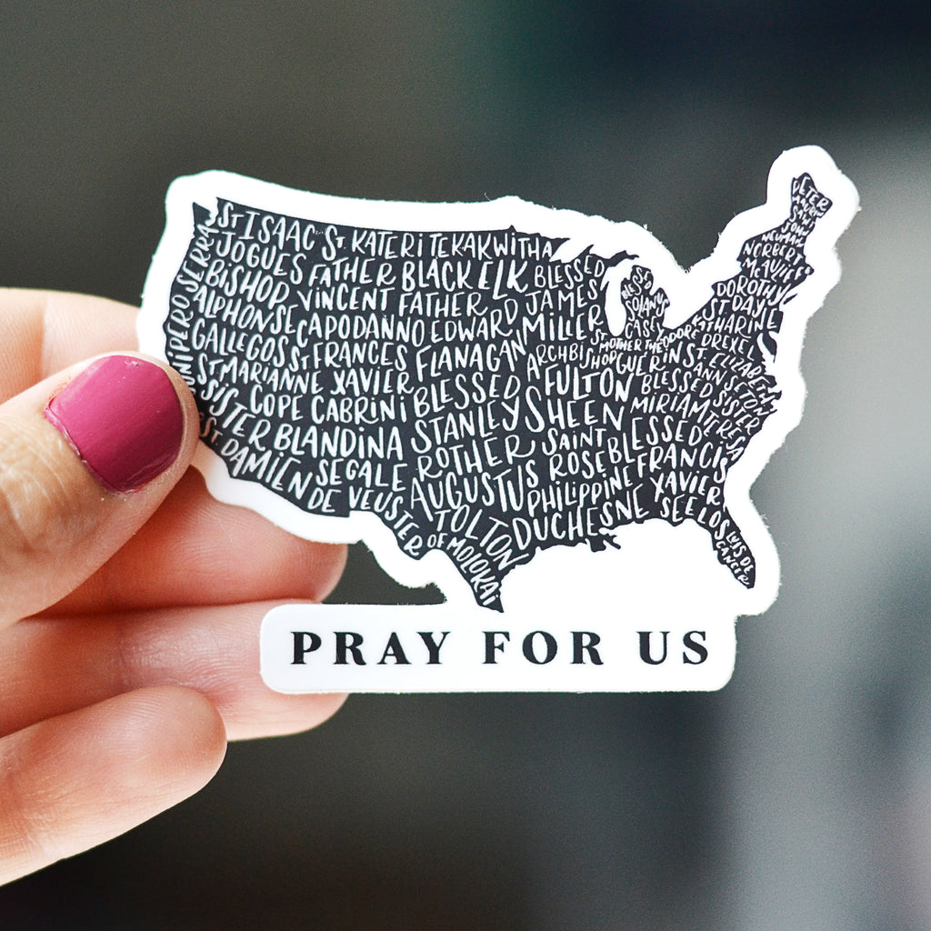 US Map Holy Men and Women Sticker