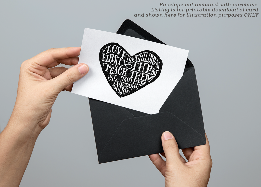 Love The Children Heart Printable