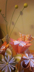 handmade wedding part three • Origami Kusudama flowers