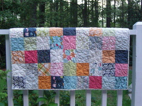 baby quilt quilted by hand