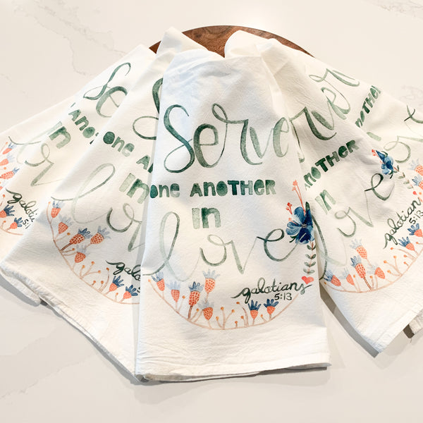 Serve one another tea towel