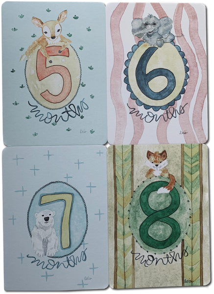 Milestone Month Cards - Gender Neutral