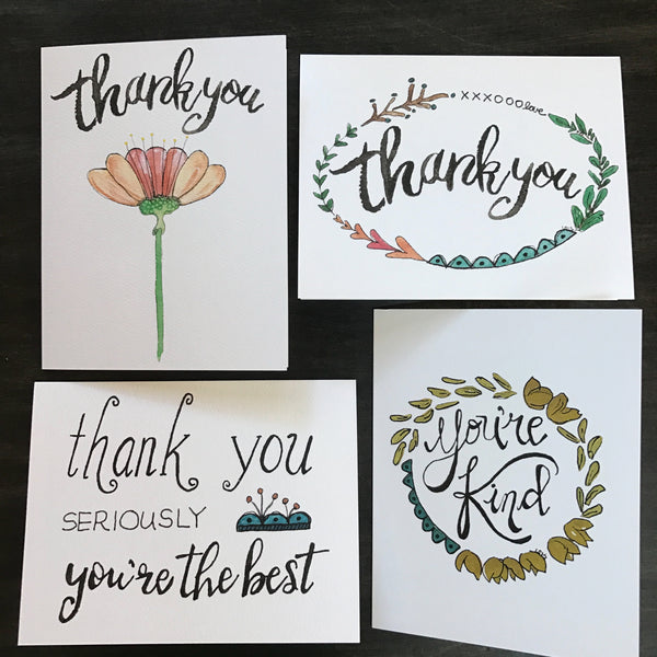 Mix and Match / choice of 4 note cards / greeting cards / all occasions / you select four