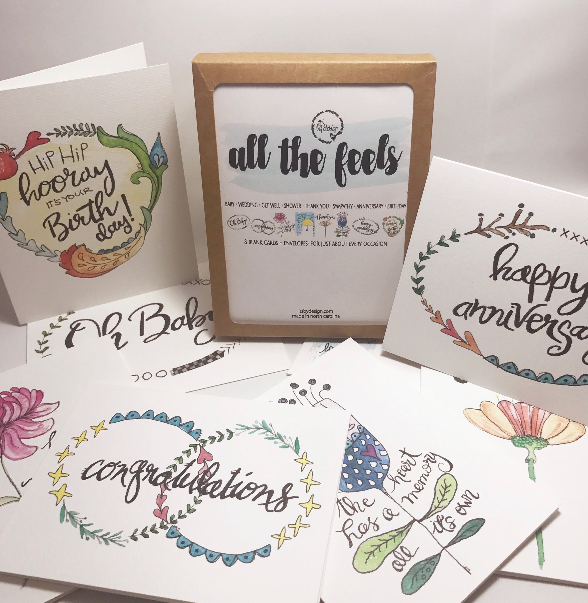 All The Feels Pack Of 8 Note Cards Greeting Cards For 8