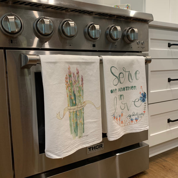 Set of 3 Tea Towels / YOU PICK 3! / Cotton Flour Sack Towels / discount price