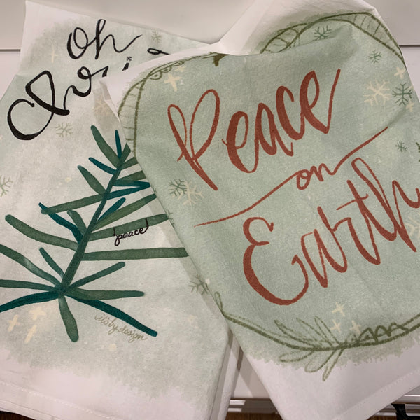 Flour Sack towels - Oh Christmas Tree