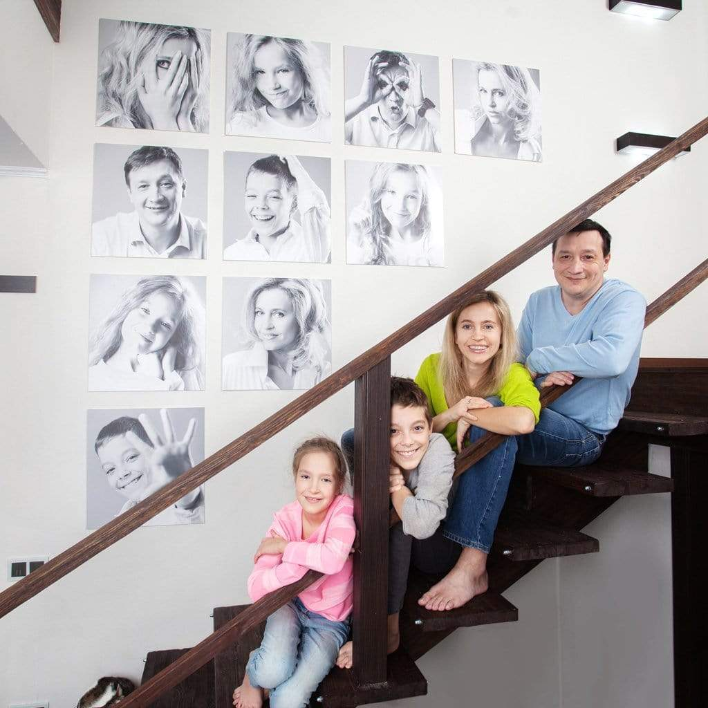 Staircase Wall Art Ideas For Arranging Pictures In Your Stairway Posterjack