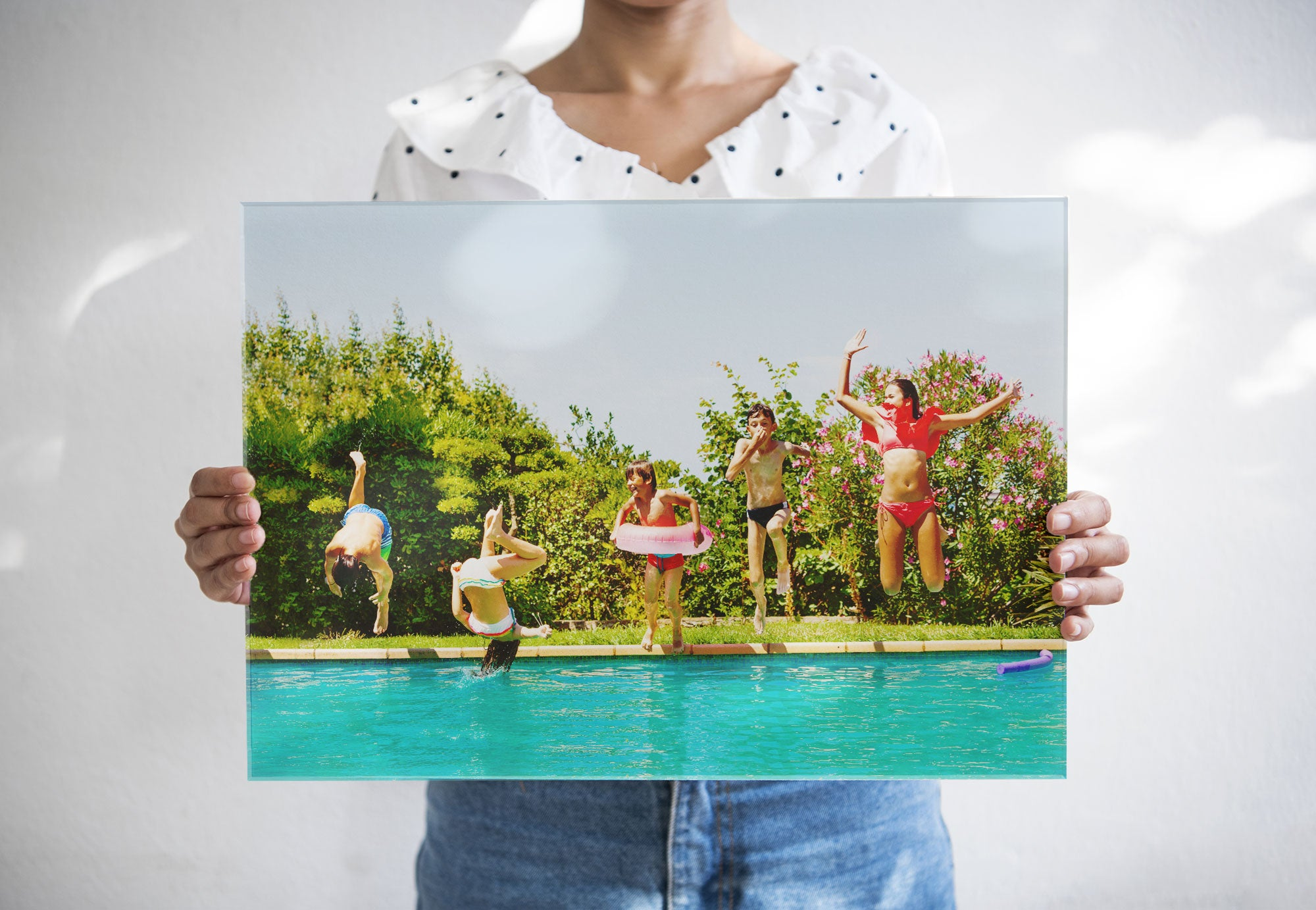 Person Holding Summer Photo Printed on Acrylic by Posterjack Canada