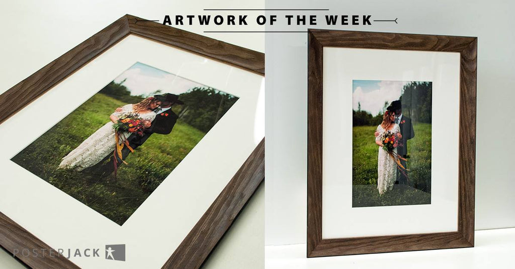 Stunning wedding photo printed and framed by Posterjack