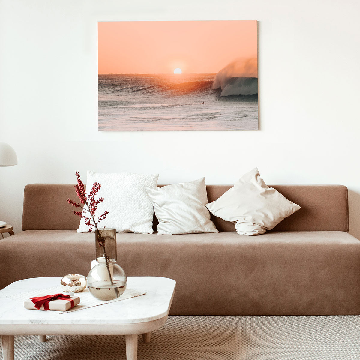 Beach Photo Printed on a Photoboard Displayed in Living Room - Posterjack Canada