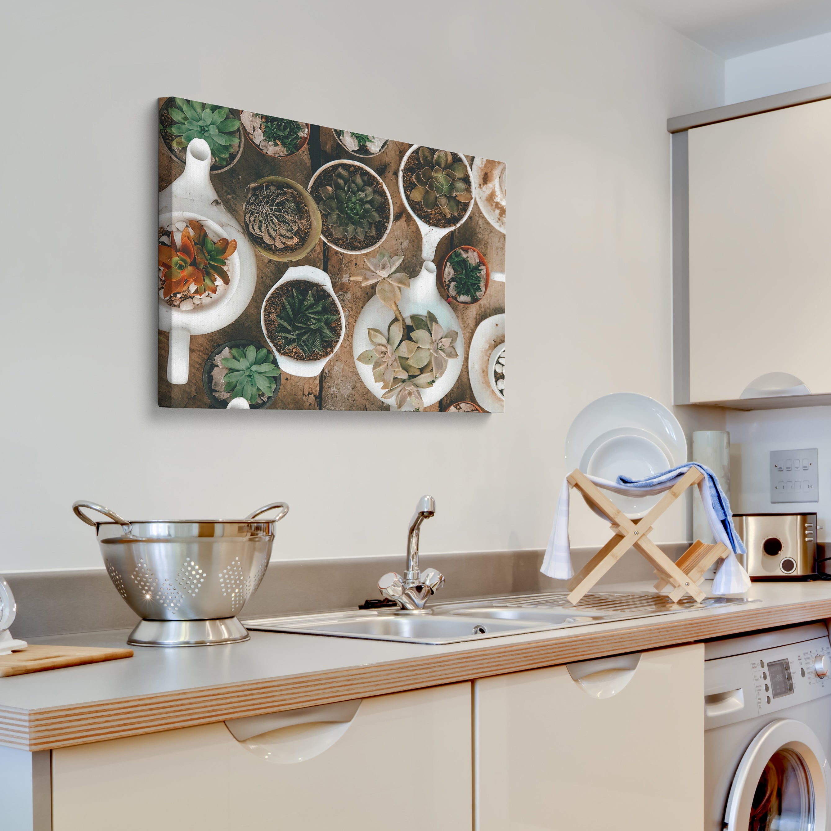 Posterjack Canvas Print Displayed Above Kitchen Sink