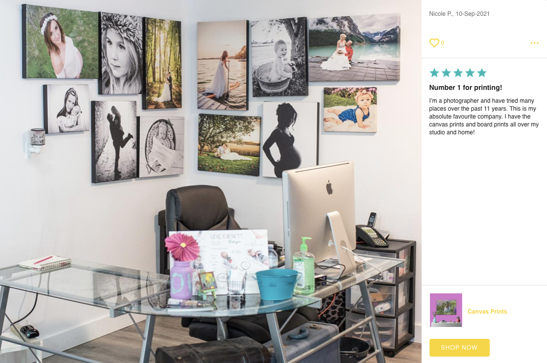 Canvas Print Photo and Review by Posterjack Customer - Gallery Wall